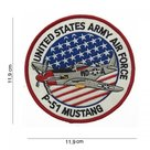 embleem-stof-united-states-army-airforce--P-51--mustang-#4062