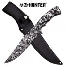 Z-Hunter-White-Zombie-Skull-Full-Tang-Fixed-Blade-Combat-Knife-w--Sheath